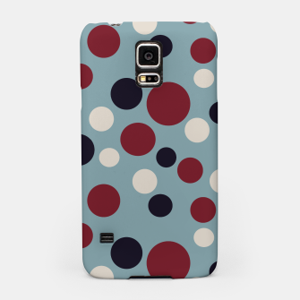 Thumbnail image of Red and Dark blue Dots on Blue Samsung Case, Live Heroes
