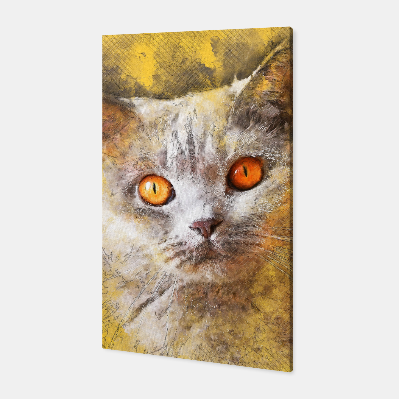 Image of cat Smokey Canvas - Live Heroes