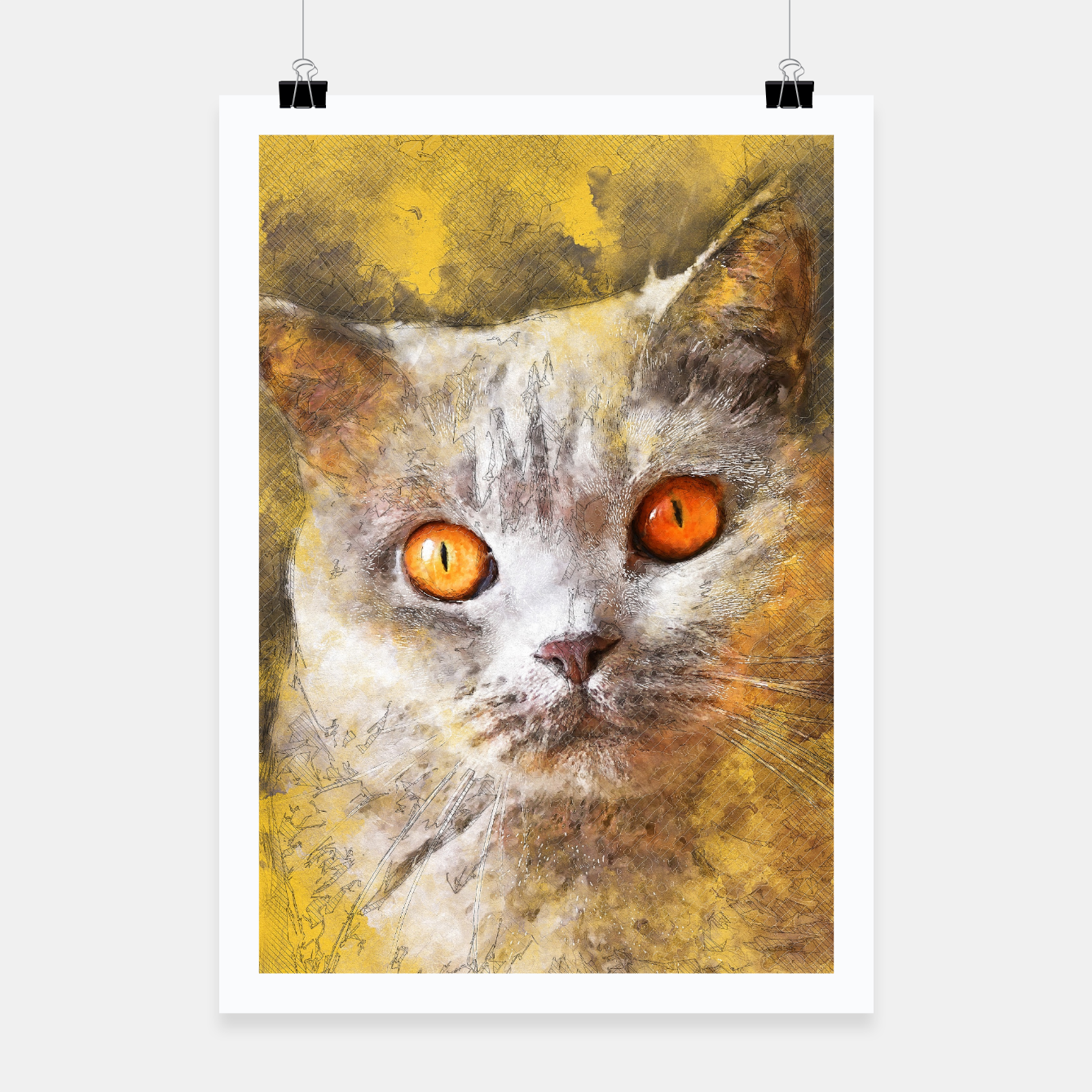 Image of cat Smokey Plakat - Live Heroes