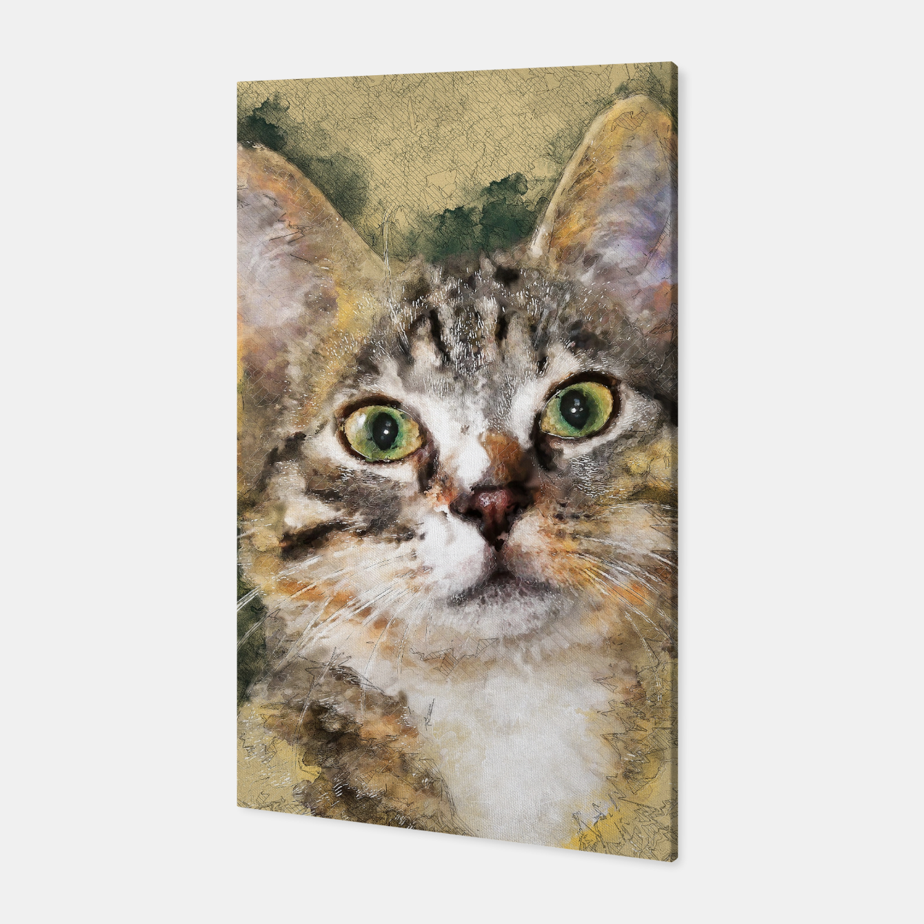 Image of cat Tiger Canvas - Live Heroes