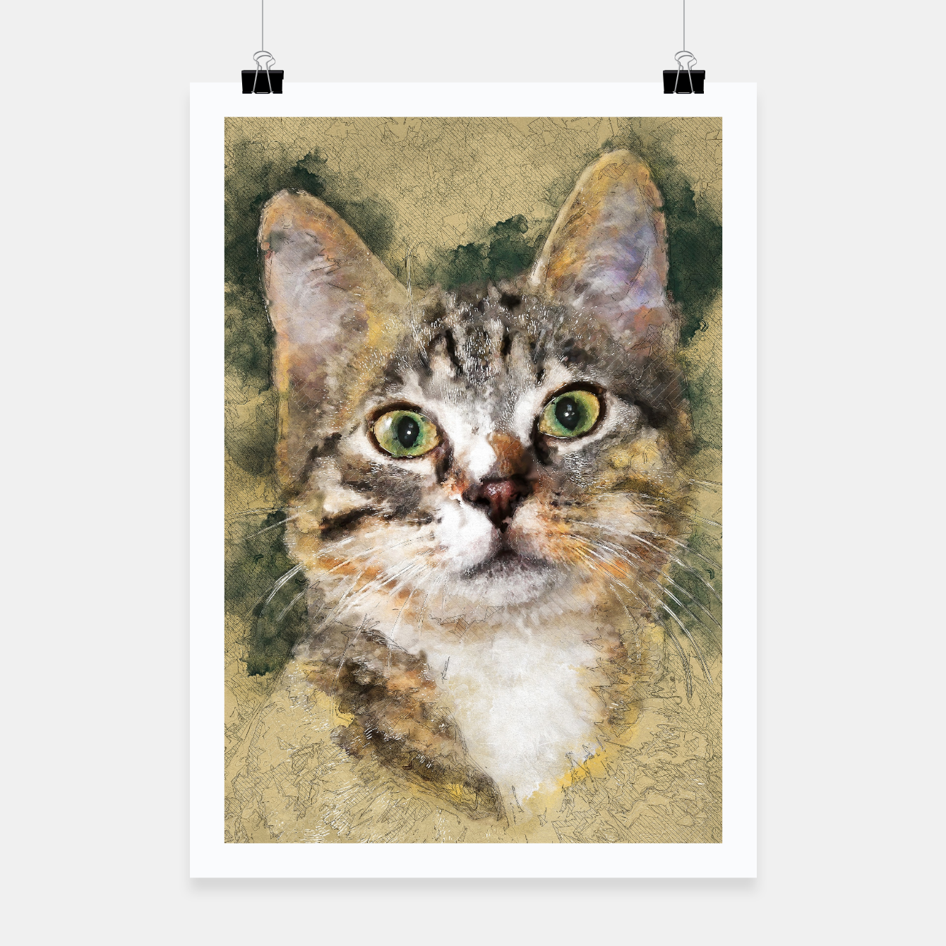 Image of cat Tiger Plakat - Live Heroes