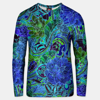 Thumbnail image of Blue Floral Pattern Unisex sweater, Live Heroes