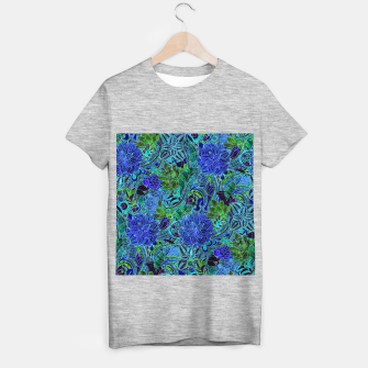 Thumbnail image of Blue Floral Pattern T-shirt regular, Live Heroes