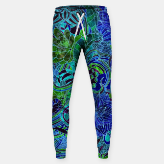 Thumbnail image of Blue Floral Pattern Sweatpants, Live Heroes
