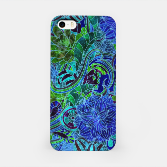 Thumbnail image of Blue Floral Pattern iPhone Case, Live Heroes