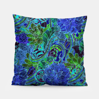 Thumbnail image of Blue Floral Pattern Pillow, Live Heroes