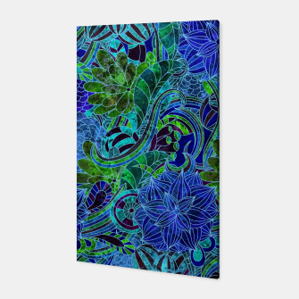 Thumbnail image of Blue Floral Pattern Canvas, Live Heroes