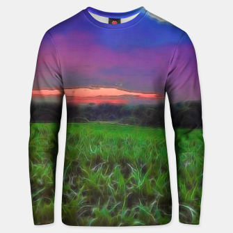 Thumbnail image of Sunset Over a Cornfield Unisex sweater, Live Heroes