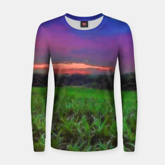 Thumbnail image of Sunset Over a Cornfield Women sweater, Live Heroes