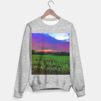 Miniaturka Sunset Over a Cornfield Sweater regular, Live Heroes