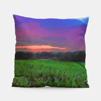 Thumbnail image of Sunset Over a Cornfield Pillow, Live Heroes