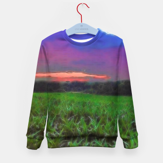 Thumbnail image of Sunset Over a Cornfield Kid's sweater, Live Heroes