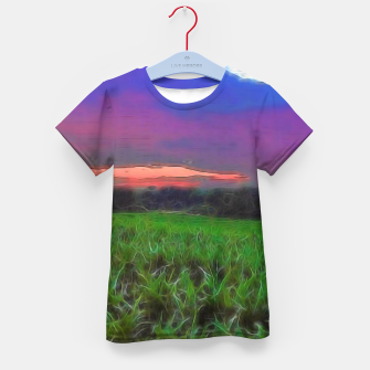 Thumbnail image of Sunset Over a Cornfield Kid's t-shirt, Live Heroes
