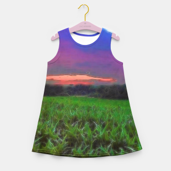 Thumbnail image of Sunset Over a Cornfield Girl's summer dress, Live Heroes