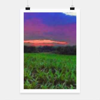Thumbnail image of Sunset Over a Cornfield Poster, Live Heroes
