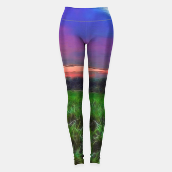 Thumbnail image of Sunset Over a Cornfield Leggings, Live Heroes