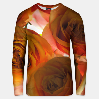 Thumbnail image of Pastel Pink and Orange Roses Unisex sweater, Live Heroes