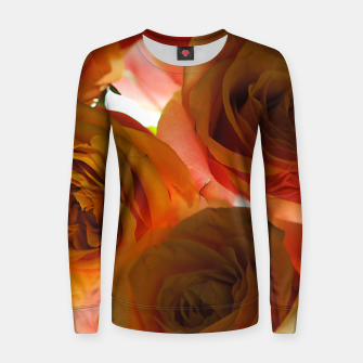 Thumbnail image of Pastel Pink and Orange Roses Women sweater, Live Heroes