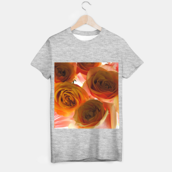 Thumbnail image of Pastel Pink and Orange Roses T-shirt regular, Live Heroes