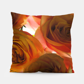 Thumbnail image of Pastel Pink and Orange Roses Pillow, Live Heroes