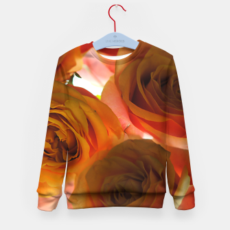 Thumbnail image of Pastel Pink and Orange Roses Kid's sweater, Live Heroes