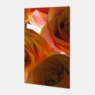 Miniaturka Pastel Pink and Orange Roses Canvas, Live Heroes