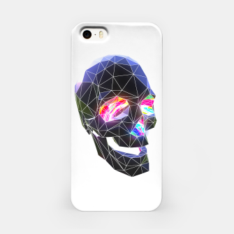 Miniatur Technicolor Skull iPhone Case, Live Heroes