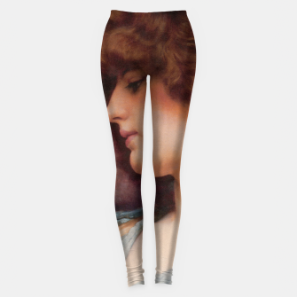 Thumbnail image of Far Away Thoughts by John William Godward Leggings, Live Heroes
