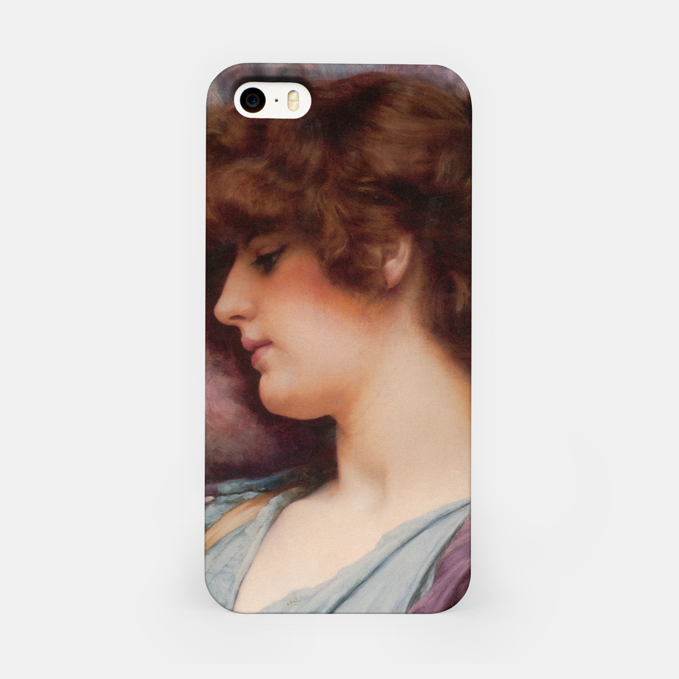 Image of Far Away Thoughts by John William Godward iPhone Case - Live Heroes