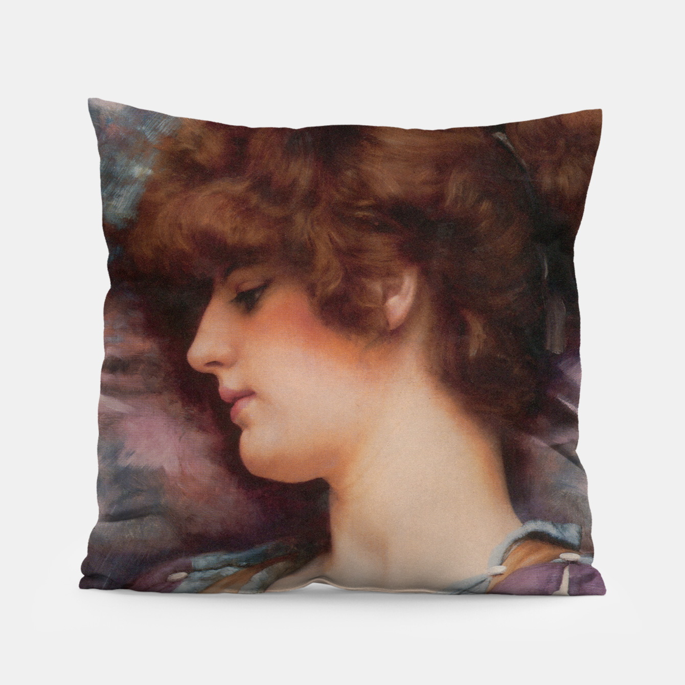 Image of Far Away Thoughts by John William Godward Pillow - Live Heroes