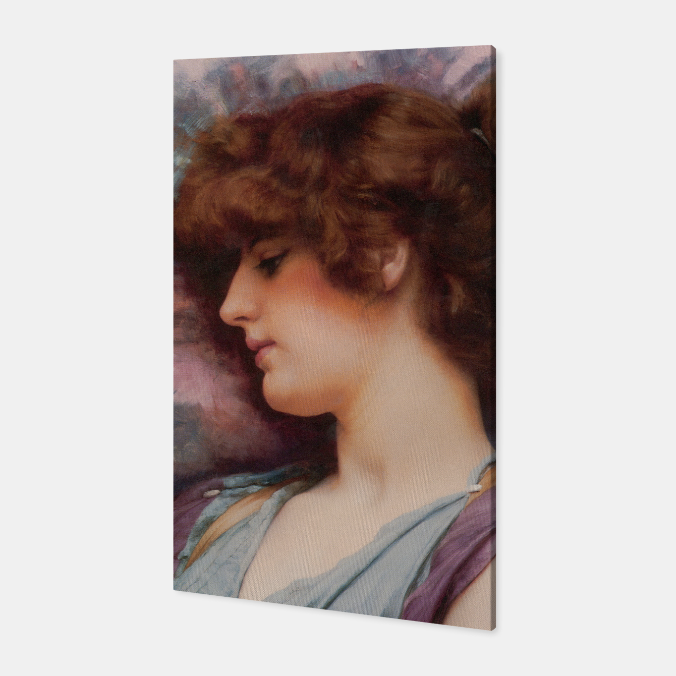 Image of Far Away Thoughts by John William Godward Canvas - Live Heroes