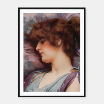 Thumbnail image of Far Away Thoughts by John William Godward Framed poster, Live Heroes