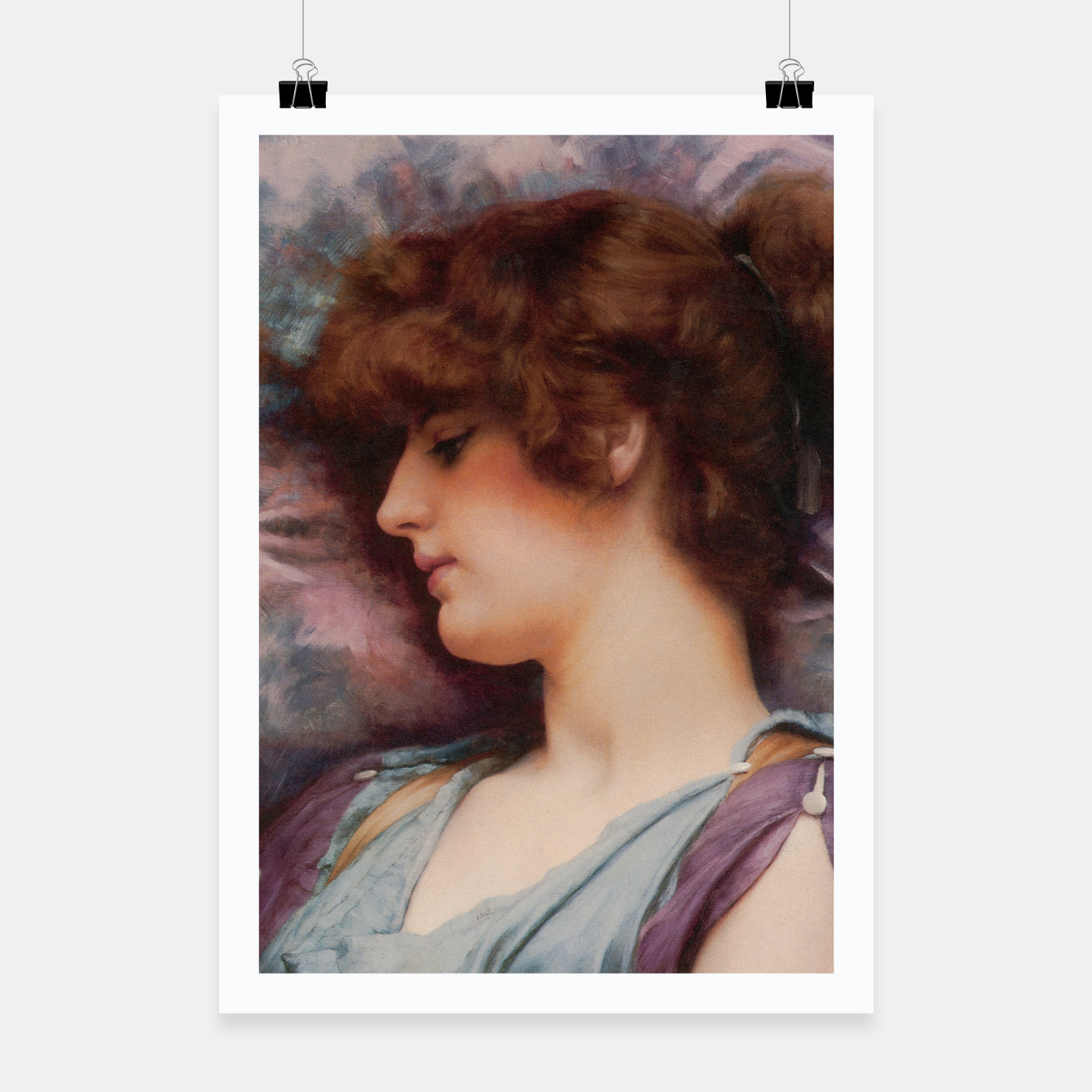 Image of Far Away Thoughts by John William Godward Poster - Live Heroes