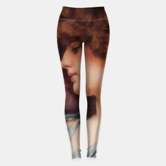 Miniaturka Far Away Thoughts by John William Godward Leggings, Live Heroes