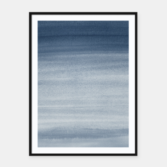 Thumbnail image of Touching Navy Blue Watercolor Abstract #1 #painting #decor #art  Plakat mit rahmen, Live Heroes
