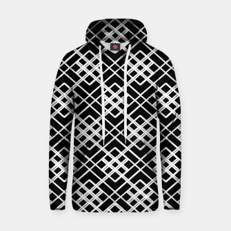 Thumbnail image of Abstract geometric pattern - black and white. Hoodie, Live Heroes