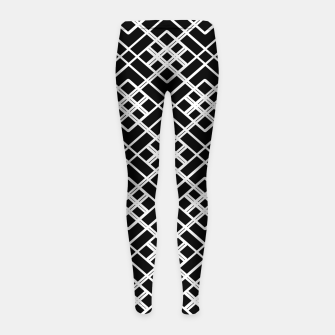 Thumbnail image of Abstract geometric pattern - black and white. Girl's leggings, Live Heroes