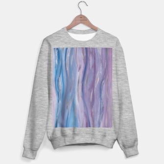 Miniaturka Touching Purple Blue Watercolor Abstract #2 #painting #decor #art Sweatshirt regulär, Live Heroes
