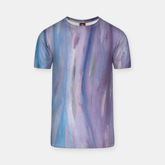 Miniaturka Touching Purple Blue Watercolor Abstract #2 #painting #decor #art T-Shirt, Live Heroes
