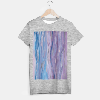 Thumbnail image of Touching Purple Blue Watercolor Abstract #2 #painting #decor #art T-Shirt regulär, Live Heroes