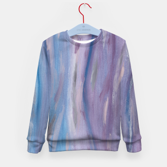 Thumbnail image of Touching Purple Blue Watercolor Abstract #2 #painting #decor #art Kindersweatshirt, Live Heroes