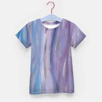 Miniaturka Touching Purple Blue Watercolor Abstract #2 #painting #decor #art T-Shirt für kinder, Live Heroes