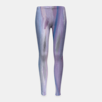 Thumbnail image of Touching Purple Blue Watercolor Abstract #2 #painting #decor #art Kinder-Leggins, Live Heroes