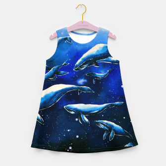 Miniatur whales Girl's summer dress, Live Heroes