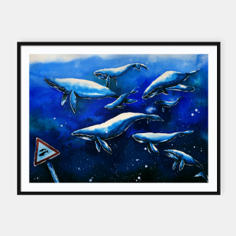 Miniatur whales Framed poster, Live Heroes