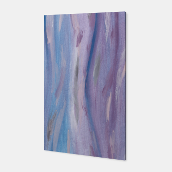 Thumbnail image of Touching Purple Blue Watercolor Abstract #2 #painting #decor #art Canvas, Live Heroes