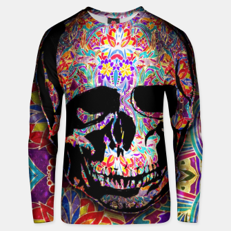 Thumbnail image of Skull With Floral Pattern Unisex sweater, Live Heroes