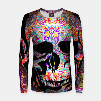 Thumbnail image of Skull With Floral Pattern Women sweater, Live Heroes