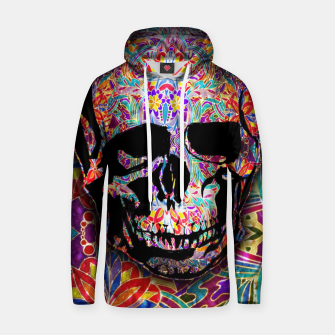 Thumbnail image of Skull With Floral Pattern Hoodie, Live Heroes