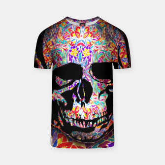 Thumbnail image of Skull With Floral Pattern T-shirt, Live Heroes